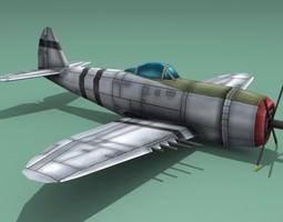 3D asset Republic P-47 Thunderbolt