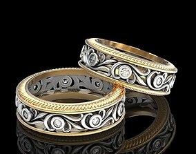 Wedding ring love the pair v2 3D print model
