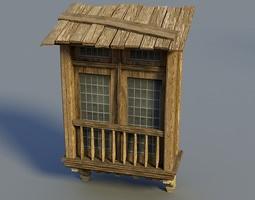 3D Wooden window