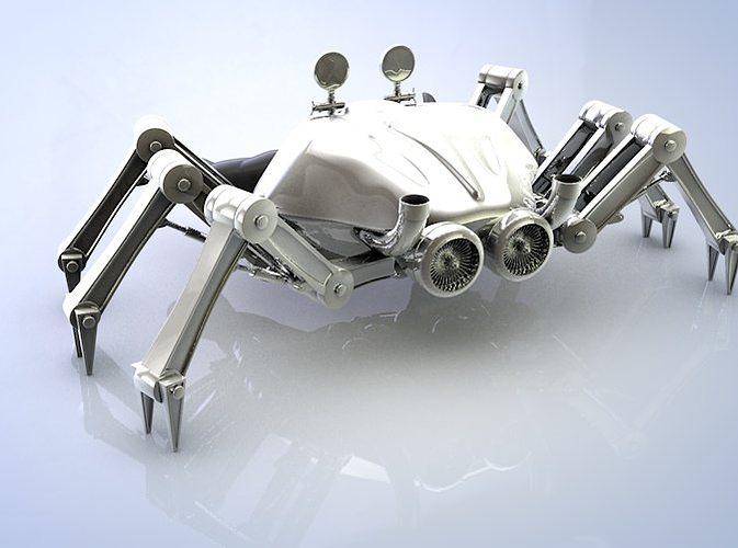 crab robot 3d model c4d stl 1