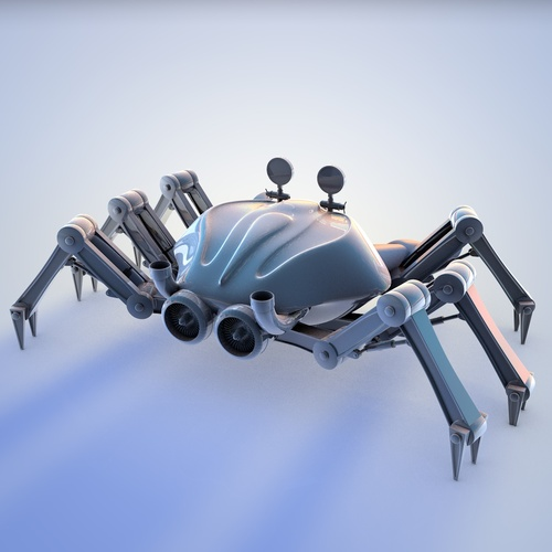Crab robot 3D Model .c4d .stl - CGTrader.com