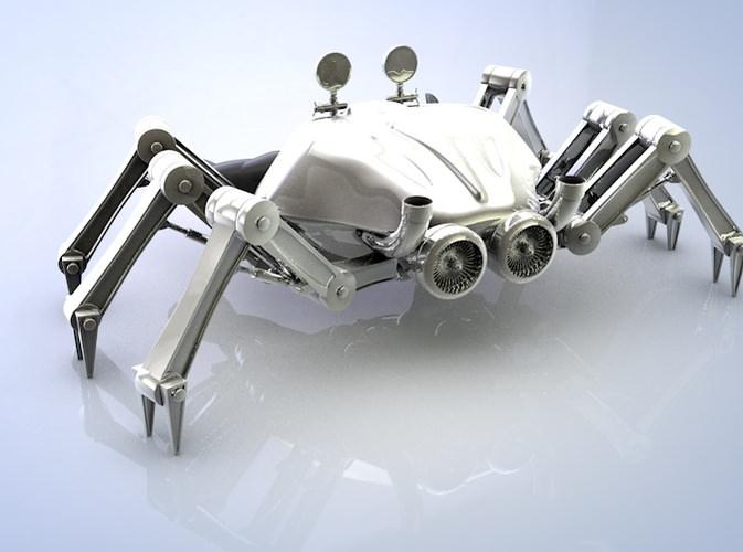 Crab robot3D model
