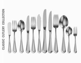 3D Classic Cutlery 12 Items Set