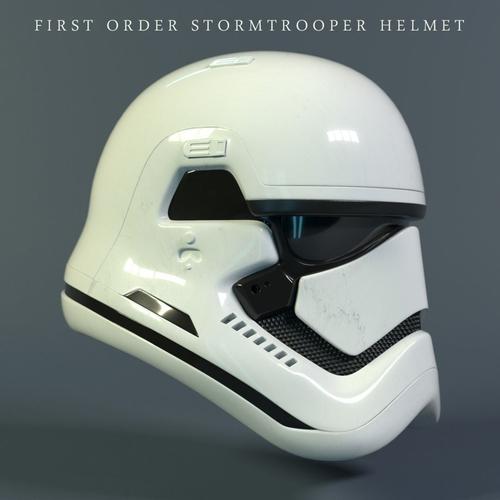 star wars stormtrooper helmet - first order 3d model max obj fbx stl blend mtl 1