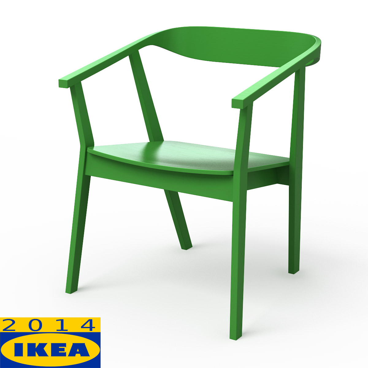 STOCKHOLM Dining Chair 3D Model Max Obj 3ds Fbx