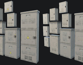 3D asset Small Utility Boxes Collection