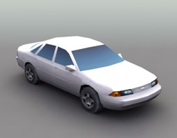 Generic Secan Car 3D Model
