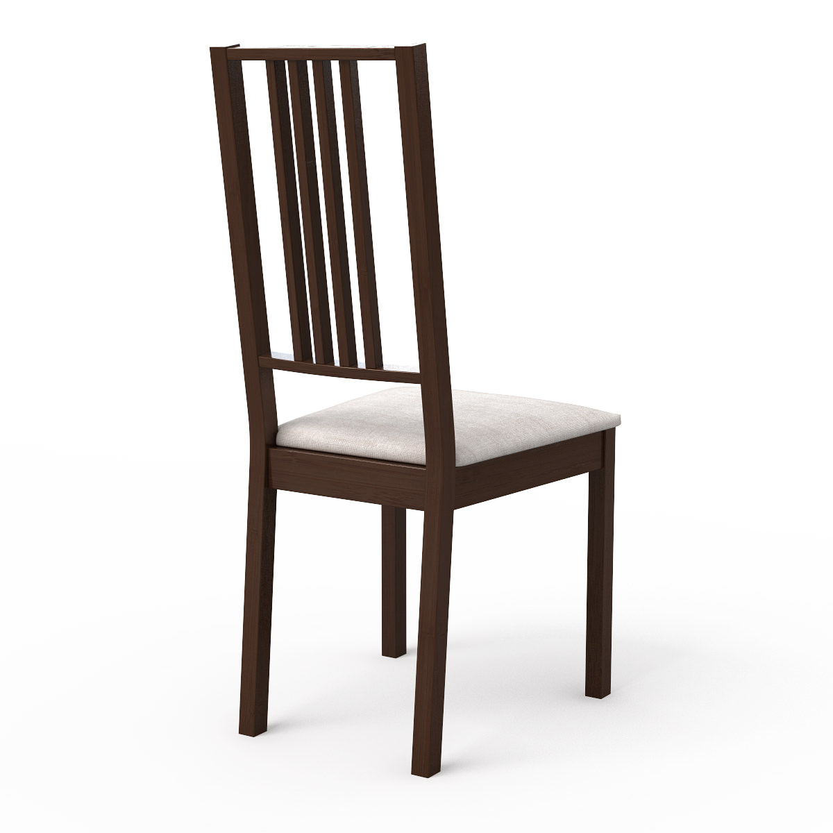 borje dark wood dining chair 3d model max obj 3ds fbx