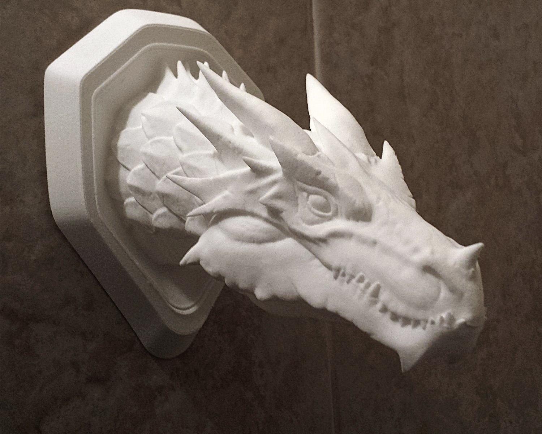 Faux Dragon Wall Mount 3d Model 3d Printable Obj Stl