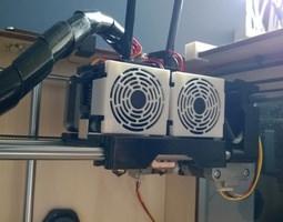 012a - Fan Shroud for FlashForge Creator Creator X 3D 1