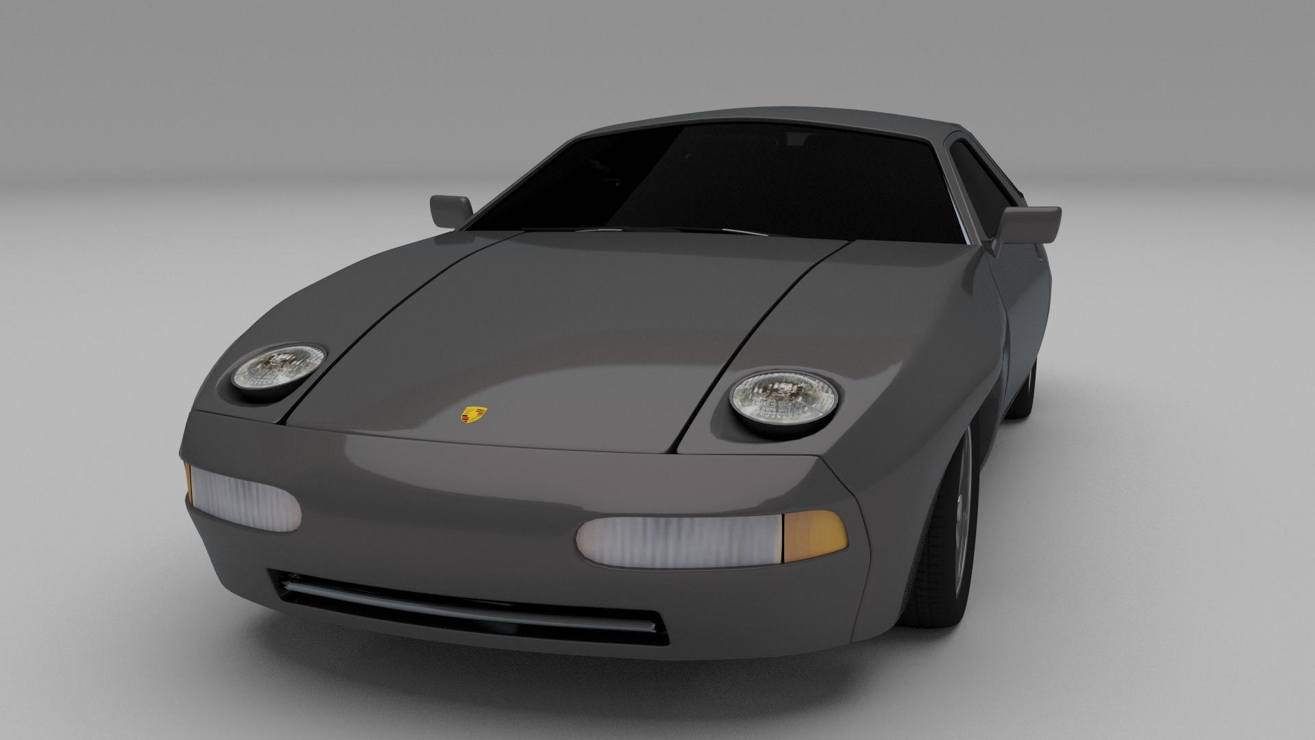 Porsche 928 3d Model Obj Stl Blend Dae Cgtrader Com
