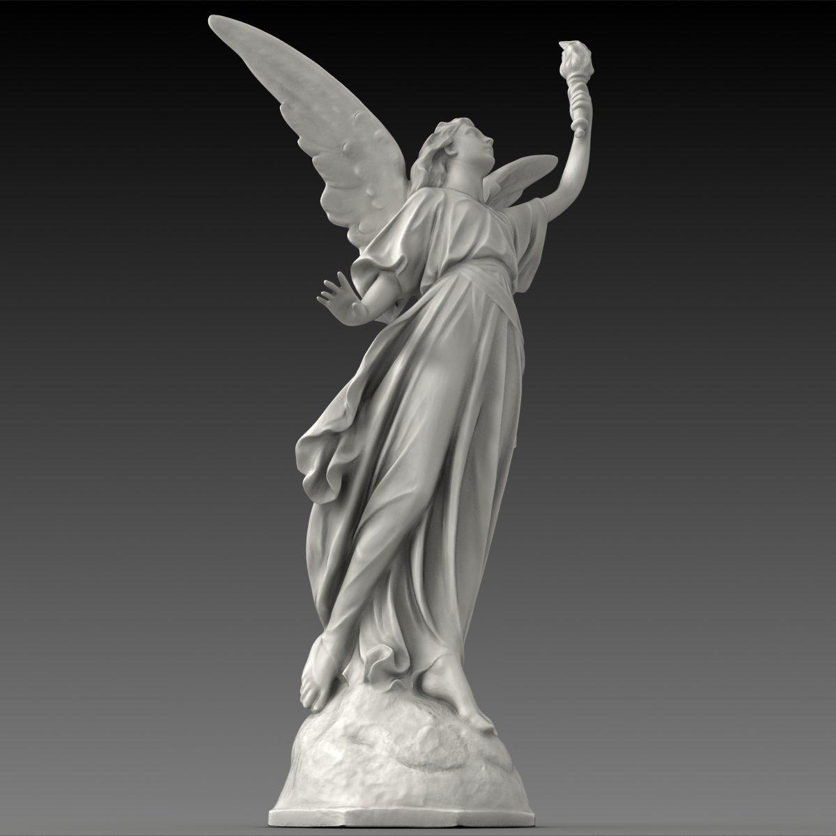 Lucy A Christian Angel Statue Free 3D Model .max .obj .fbx