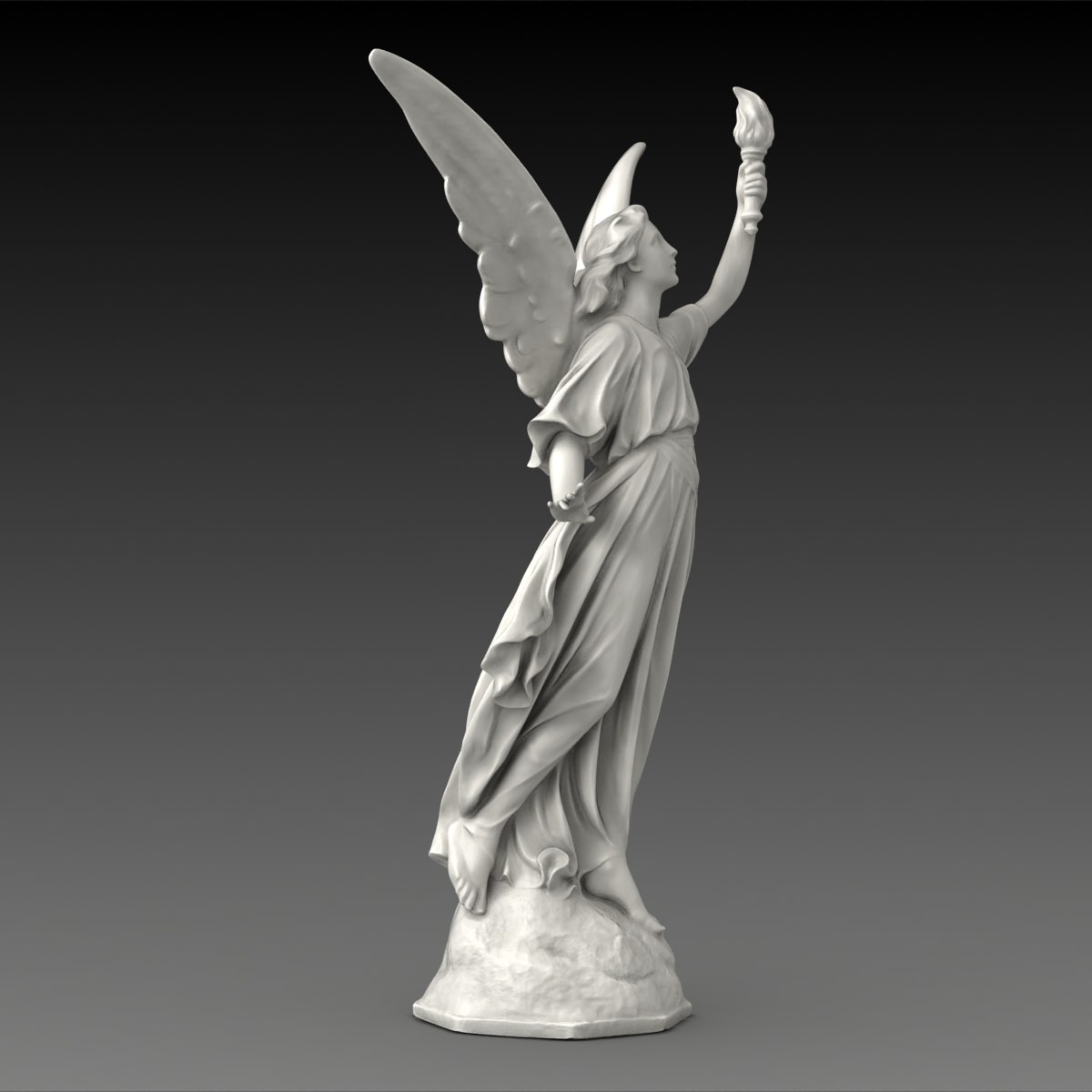 Lucy A Christian Angel Statue Free 3d Model Max Obj Fbx