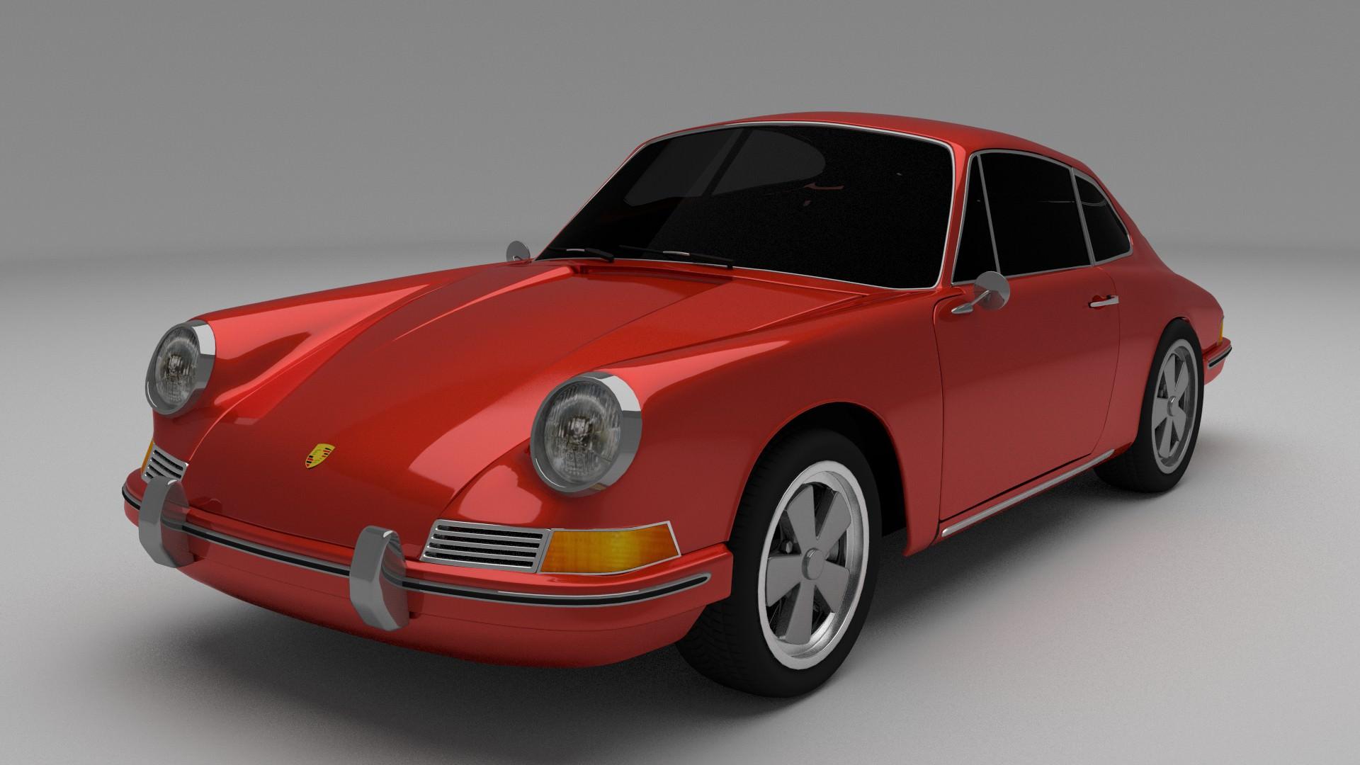 Porsche Classic Collection 3d Model Obj Stl Blend Dae