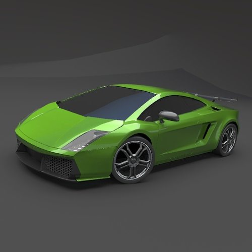 Lamborghini Gallardo Superleggera: Lamborghini Gallardo Superleggera Redesigned 3D Model OBJ