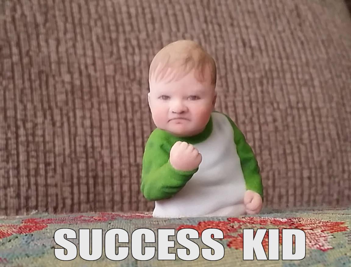 Funny Kid Meme Images : Success kid meme 3d print cgtrader