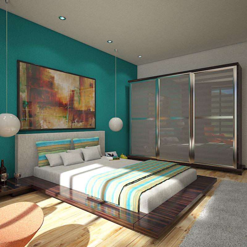 Bedroom 1 3D Model MAX OBJ 3DS | CGTrader.com on New Model Bedroom  id=84008