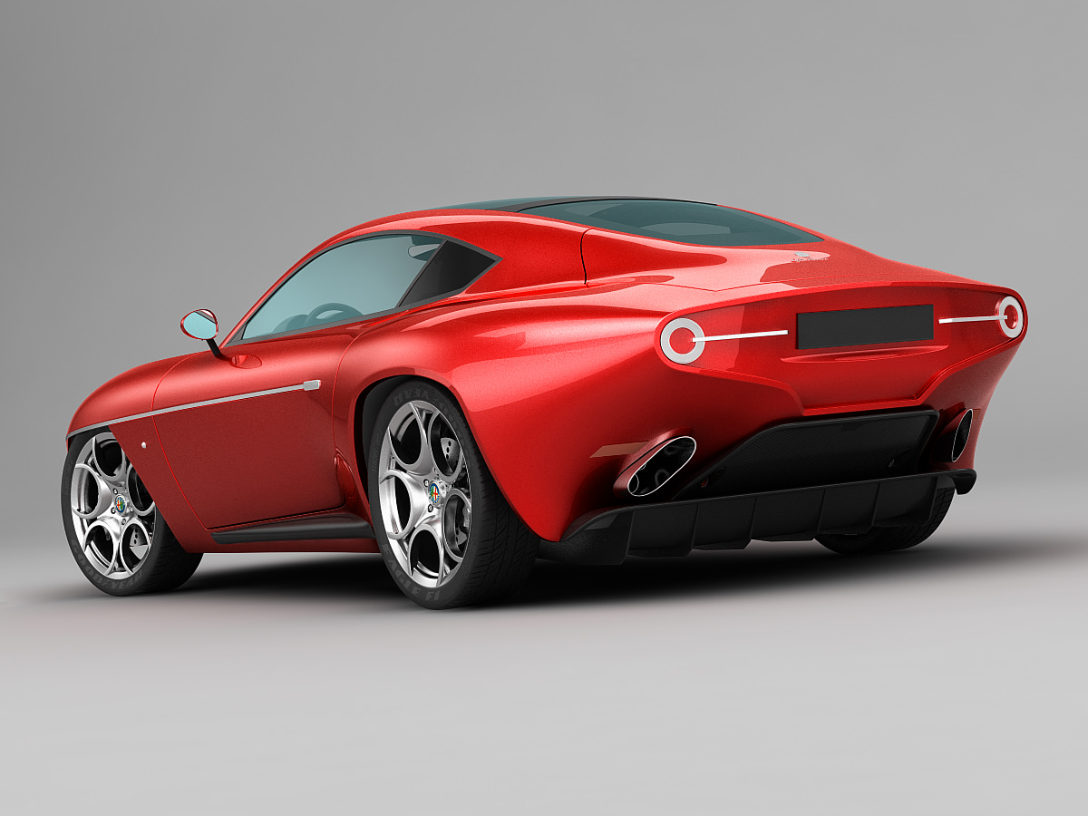 alfa romeo disco volante touring 2013 red 3d model max. Black Bedroom Furniture Sets. Home Design Ideas
