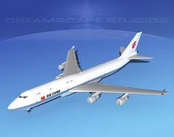 Boeing 747-8I Jumbo Jet China 3D model