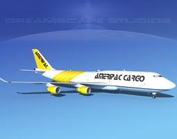 3D model Boeing 747-8I AmeriPAc Cargo