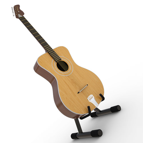 Acoustic Guitar Orfeus With Stand3D model