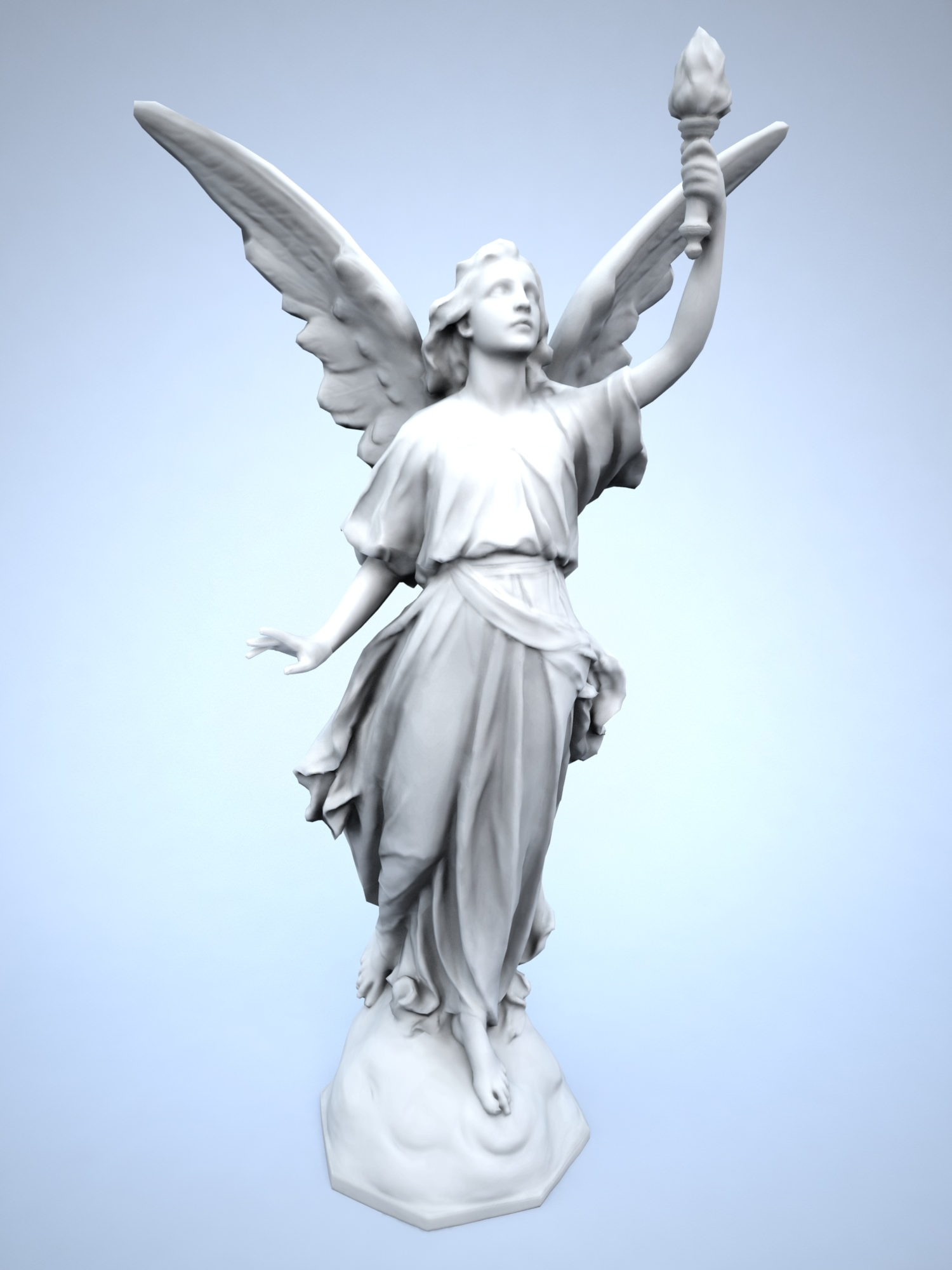 Lucy angel free vr ar low poly 3d model 3ds Free 3d