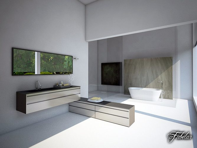 bathroom collection 5 3d model max obj 3ds fbx c4d dae Five Great Inspirations For Remodeling Your Bathroom