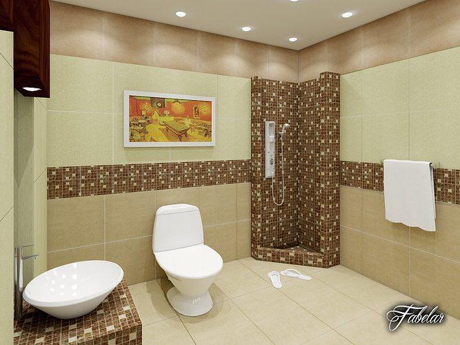 Bathroom Model bathroom collection 5 3d model max obj 3ds fbx c4d dae