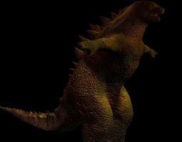 3d Godzilla Model with textures and normal map 3D Model