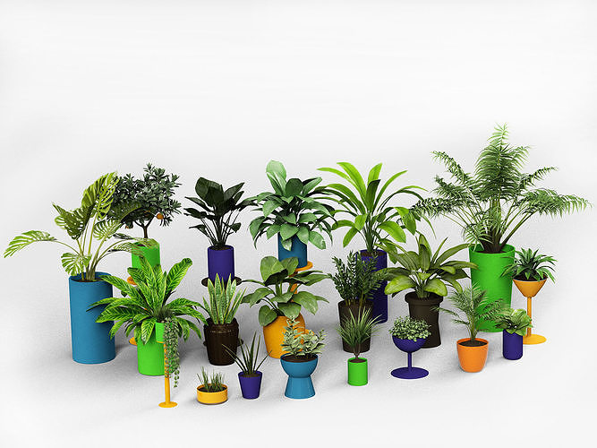 plants collection 3d model max obj mtl mat 1