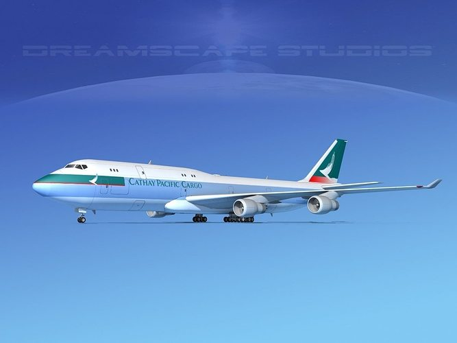 boeing 747-8i cathay pacific cargo 3d model max obj 3ds lwo lw lws dxf stl 1