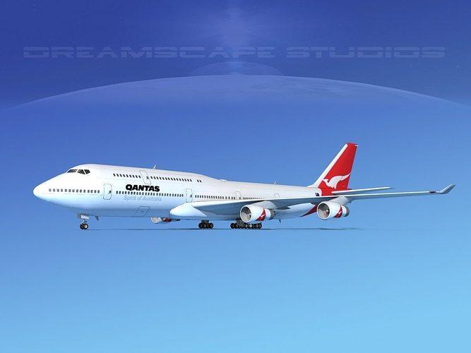 boeing 747-8i qantas 3d model max obj 3ds lwo lw lws dxf stl 1