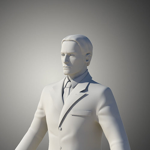 man in suit 3d model obj mtl 1