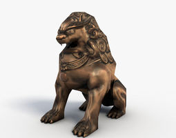 Chinese guardian lion 3D Model