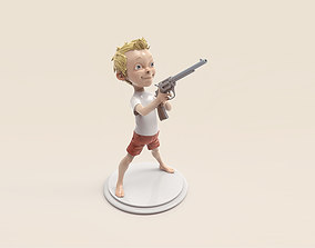 3D printable model Boy with the gun