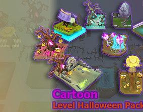 Cartoon Level Halloween Pack 3D asset