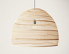 3D Wicker Hanging Lamp Large