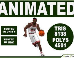 Black Basketball Player 8138 tris  3D Model