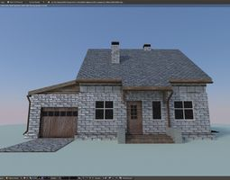 Brick House 3D asset