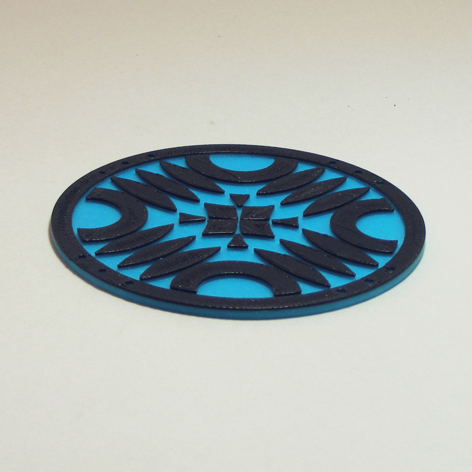 Crop Circle Drink Coaster 3D Model 3D Printable .stl