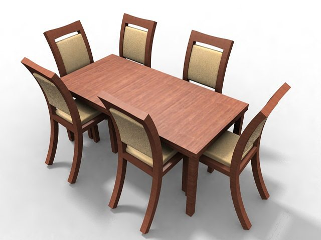 Dining table 3d model max for Dining table models
