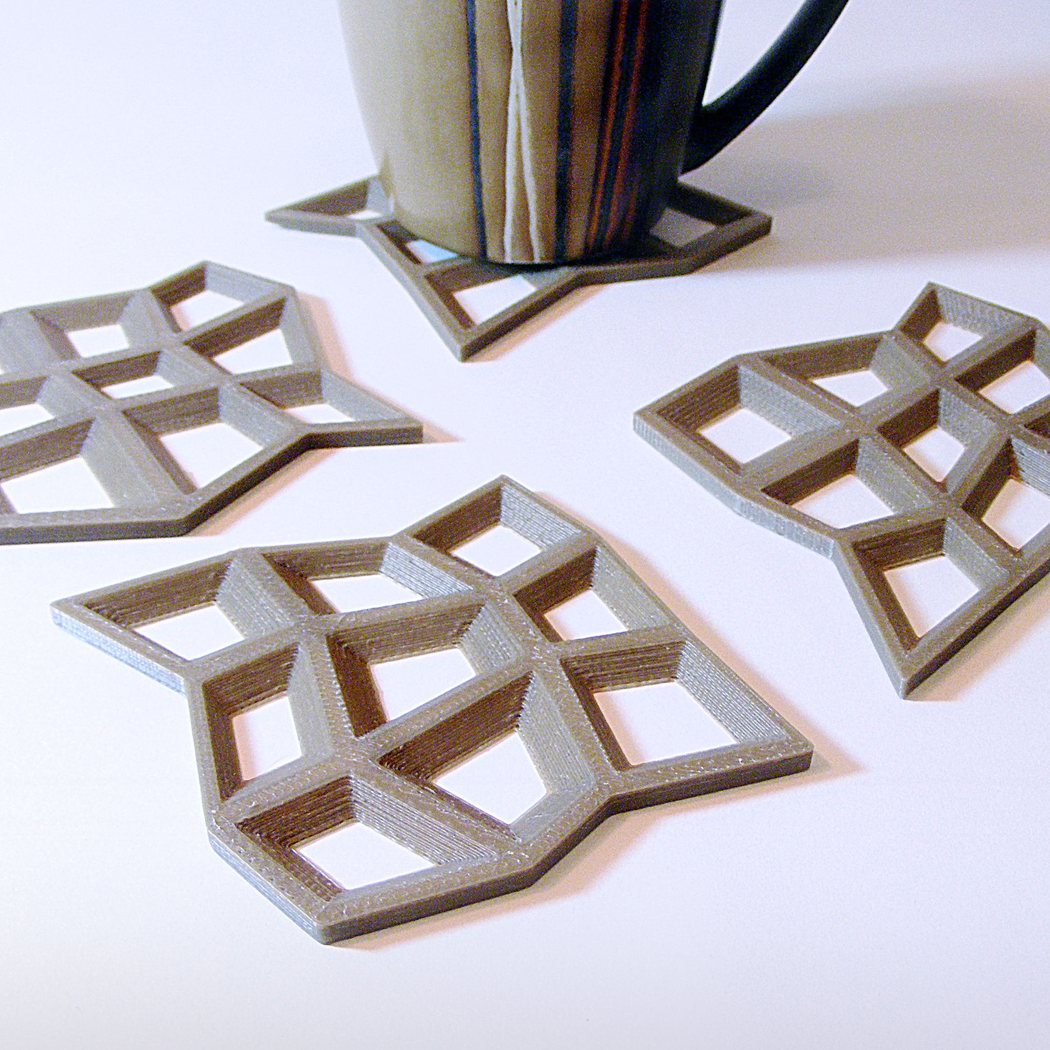 Mesh Drink Coasters 3d Model 3d Printable Stl Cgtrader Com