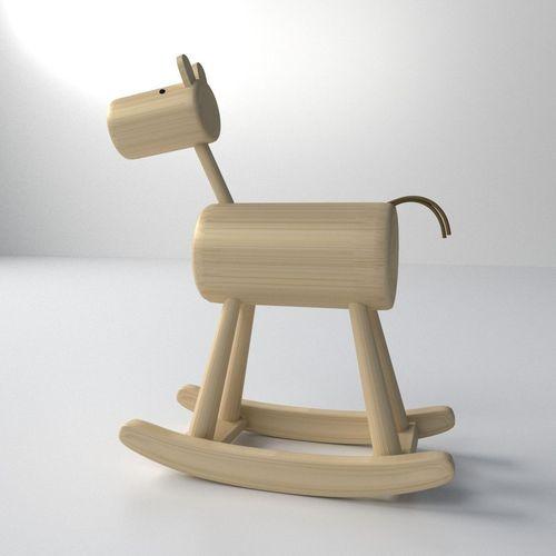 Wood Rocking Horse3D model