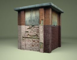 Construction old box 3D model