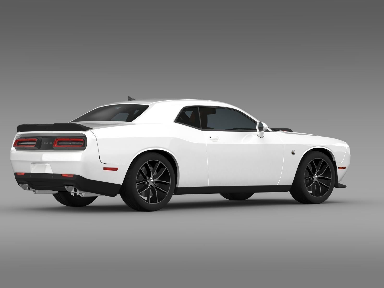 dodge challenger 392 hemi scat pack shaker 3d model max obj 3ds fbx c4d lwo lw lws. Black Bedroom Furniture Sets. Home Design Ideas