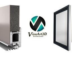 Door profile and window 3D Model