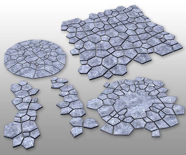 stone ground tiles 3d model max obj mtl fbx 1
