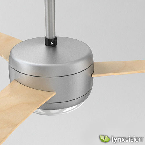 modern ceiling fan with wooden blades 3d model max obj fbx c4d lwo lw lws lxo