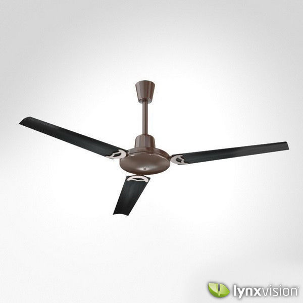 Metallic Ceiling Fan with Wooden Blades