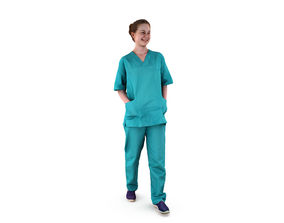 Nurse Walking 3D model low-poly